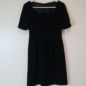Jones New York Career Dress Black S/S Sz 6